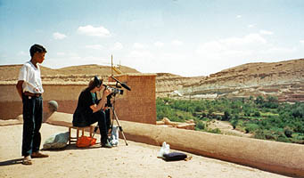 Filming in Morocco